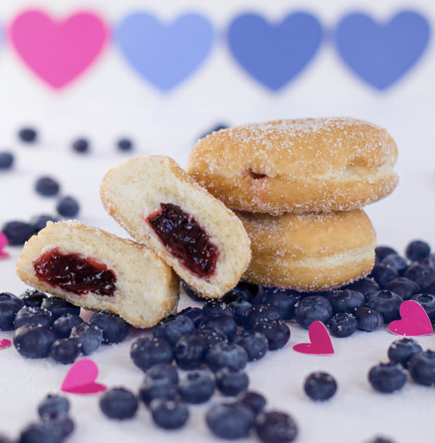 BlueBerry Berliner Donut fo the Month